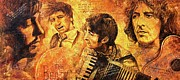 The Beatles George Harrison Paintings - The Best Forever by Igor Postash