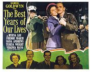1946 Movies Framed Prints - The Best Years Of Our Lives, Myrna Loy Framed Print by Everett