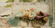 Leopard Print Posters - The Betrothed Poster by John William Godward