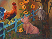 Pig Art Posters - The Better Life Poster by Debbie McCulley