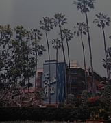 Los Angeles Digital Art Metal Prints - The Beverly Hills Hotel Metal Print by Rob Hans