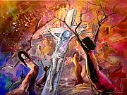 Religious Art Mixed Media - The Bible Crucifixion by Miki De Goodaboom