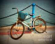 Chain Digital Art Framed Prints - The Bicycle Framed Print by Carol Groenen