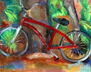 Susan Hanlon Framed Prints - The Bicycle Framed Print by Susan Hanlon