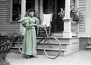Victorian Photo Originals - The Bicyclist  by Jan Faul
