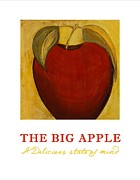 Gold Apples Framed Prints - The Big Apple Framed Print by Gypsy McKinna