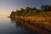 Hotels And Resorts Posters - The Big Bay Point Lighthouse, Now A Bed Poster by Phil Schermeister