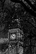 E Black Framed Prints - The Big Ben Framed Print by Aldo Cervato