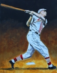 Baseball Painting Metal Prints - The Big Cat Metal Print by Ralph LeCompte