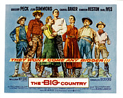 Connors Framed Prints - The Big Country, Charles Bickford Framed Print by Everett