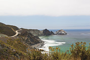 No Major Framed Prints - The Big Sur Coastline On The Pacific Framed Print by Douglas Orton