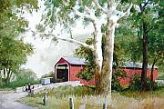 Amish Buggy Paintings - The Big Sycamores by Dale Ziegler