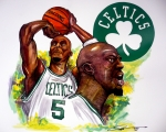 Boston Celtics Drawings Posters - The Big Ticket Poster by Dave Olsen