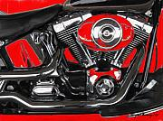Interesting Art Framed Prints - The Big Twin Cam Framed Print by Wayne Bonney