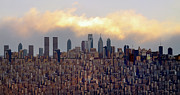 Twin Towers Digital Art Metal Prints - The Bigger City Metal Print by Bill Cannon