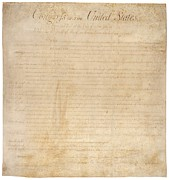 Calligraphy Photo Prints - The Bill Of Rights. The First Ten Print by Everett