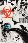 Spray Paint Mixed Media Posters - The Biohazard Bargain Barcode Poster by Iosua Tai Taeoalii
