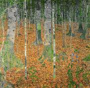 Tree Leaf Painting Prints - The Birch Wood Print by Gustav Klimt