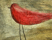 Acrylic Mixed Media Posters - The Bird - ft06 Poster by Variance Collections
