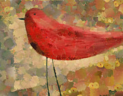 Bird Mixed Media Metal Prints - The Bird - k04d Metal Print by Variance Collections