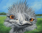 Ostrich Painting Framed Prints - The Bird 2011 Framed Print by Torrie Smiley