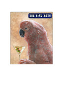Exotic Bird Paintings - The Bird Bath Card by Will Bullas