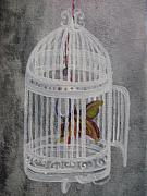 Cage Paintings - The Bird Cage by Theodora Dimitrijevic