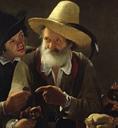 Elderly Paintings - The Bird Seller by Pensionante de Saraceni