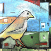 Yellow Beak Paintings - The Bird by Tim Nyberg