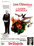 1960s Poster Art Photo Framed Prints - The Birds, Aka Alfred Hitchcocks The Framed Print by Everett