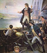Star-ship Paintings - The Birth of the US National Anthem by American School