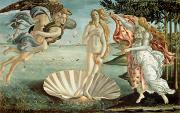 Mythological Painting Posters - The Birth of Venus Poster by Sandro Botticelli