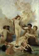 Sea Shells Painting Posters - The Birth of Venus Poster by William-Adolphe Bouguereau
