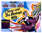 Watching The Movies Prints - The Bishops Wife Cary Grant, Loretta Print by Everett