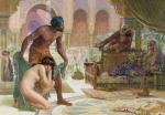 Orientalist Painting Posters - The Bitter Draught of Slavery Poster by Ernest Normand