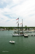 Vineyard Haven Prints - The Black Dog Tall Ship Alabama Vineyard Haven Massachusetts Print by Michelle Wiarda