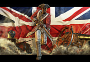 England Mixed Media - The Black Loyalist by Kurt Miller