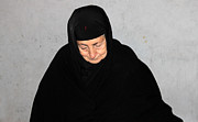 Orthodox Photo Originals - The Black Orthodox Veil by Munir Alawi