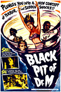 1950s Movies Art - The Black Pit Of Dr. M, Aka Misterios by Everett