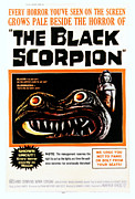 1950s Poster Art Framed Prints - The Black Scorpion, Right Mara Corday Framed Print by Everett