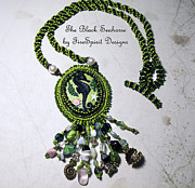 Black Art Jewelry - The Black Seahorse by Patricia Griffin Brett