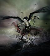 The Black Swan Print by Karen H