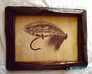 Fly Fishing Drawings Originals - The Blacker No.2 Salmon Fly by Peter Kaniaru