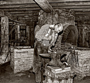 Pennsylvania Art - The Blacksmith 2 sepia by Steve Harrington