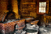 Skins Framed Prints - The Blacksmith Shop at Fort Nisqually Framed Print by David Patterson