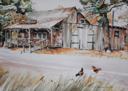 Old Barn Paintings - The Blacksmith Shoppe by P Anthony Visco