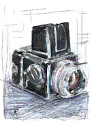 Camera Mixed Media Prints - The Blad Print by Russell Pierce