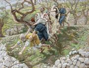 Biblical Framed Prints - The Blind Leading the Blind Framed Print by Tissot
