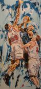 Nba Framed Prints - The Block Framed Print by Debbie Sampson