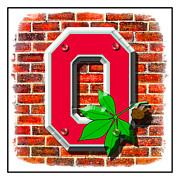 Ohio State Prints - The Block O Print by Kenneth Krolikowski